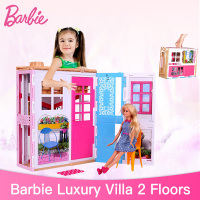Genuine Barbie 2 Story House with Furniture Accessories Dreamhouse Set Toys For Girls Barbie House Chrismtas Gifts DVV49