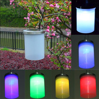 Waterproof Solar Power Hanging Cylinder Lanterns LED Landscape Path Yard Garden Outdoor Patio Holidays Decoration Light