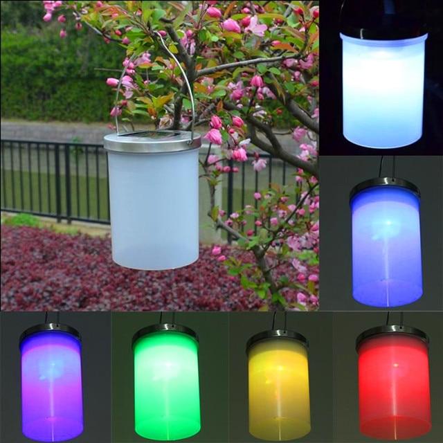 Waterproof Solar Hanging Cylinder Lanterns Led Landscape Path Yard Garden Outdoor Patio Holidays Decoration Light
