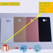 For Samsung Galaxy A7 2016 A710 A710F A7100 Housing Battery Cover Back Cover Case Rear Door Chassis A7 2016 Shell Replacement allen bradley 1756 a7 b 1756a7 controllogix 7 slots chassis new and original 100