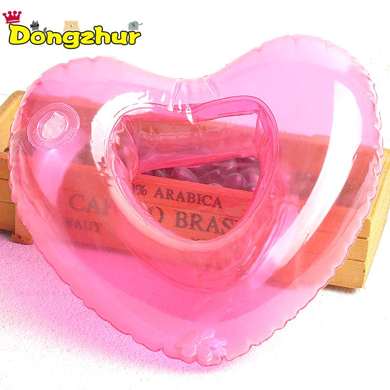 20*6cm Shape Heart PVC Lovely Economic Convenient Drink Holder Cup Inflatable Cup Holder Red Floating Summer Hawaii Toys AWE9561