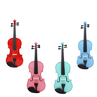 Violin 5 Color 4/4 Natural Acoustic Wooden Violin Set with Case for Violin Stringed Instruments Beginner Lover AV404