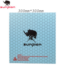 SUNPION 3d Printer parts Build Surface 3D 300*300mm Heated  Bed sticker square print build plate For kossel