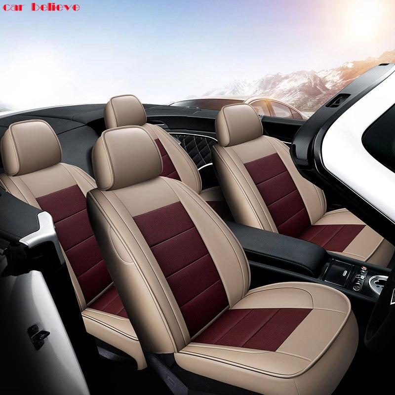 Car Believe Auto automobiles Cowhide leather seat cover For Toyota RAV4 PRADO Highlander COROLLA Prius Land CRUISER accessories