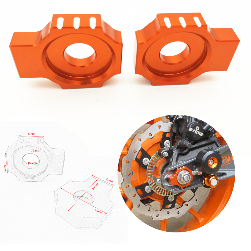 CNC Rear Axle Spindle Chain Adjuster Blocks For KTM 125/200/390 Duke RC125/200/390 Motorcycles Decoration