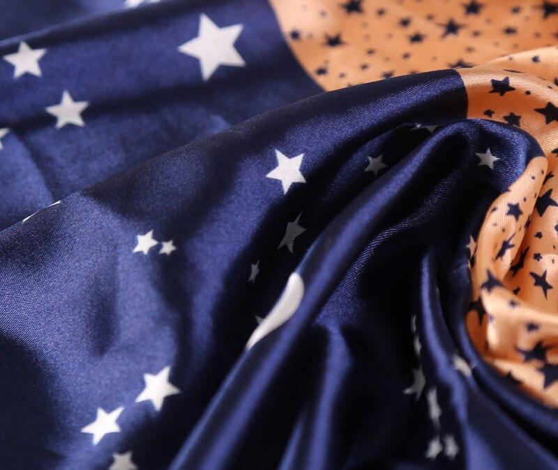 Мода небольшой площади 40% натуральный шелк Для женщин Шарфы для женщин бренд лоскутное Луны и Звезд Женские Средства ухода за кожей шеи шарф...