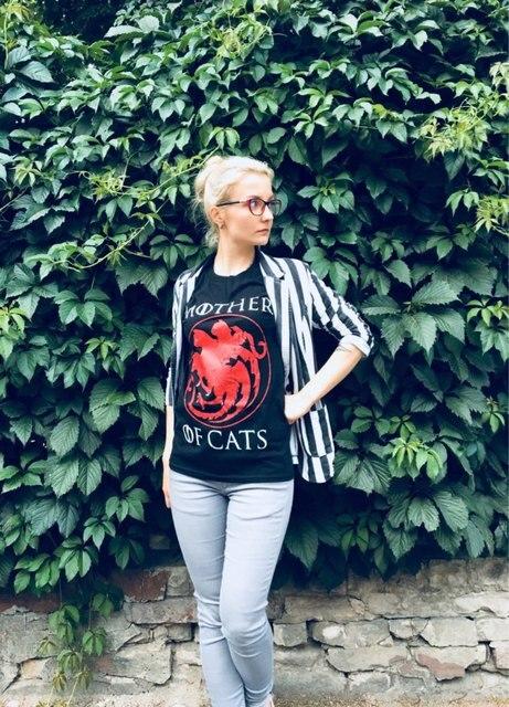 Hillbilly Casual T shirts Mother of Cats harajuku Tees Tshirts Women Tops Tees Short Sleeved Plus