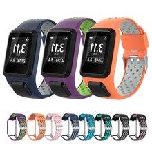 Pulseira de substituição para tomtom pulseira de relógio pulseira de silicone para tomtom runner 3/aventureiro/golfista 2/runner 2 cardio/faísca 3 música