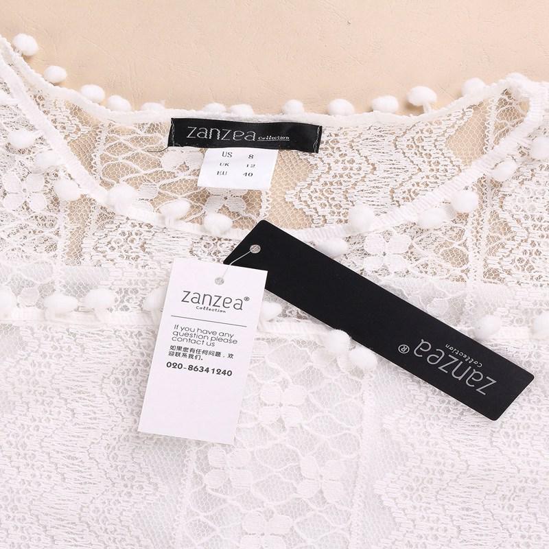 ZANZEA Vestidos 2018 Summer Elegant Women Casual Solid Short Sleeve Slim Lace Mini Dress Tops Ladies Sexy White Dress Plus Size 5