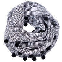 Charming Autumn Winter Women Wool Collar Neck Warmer Crochet Ring Scarf For Women