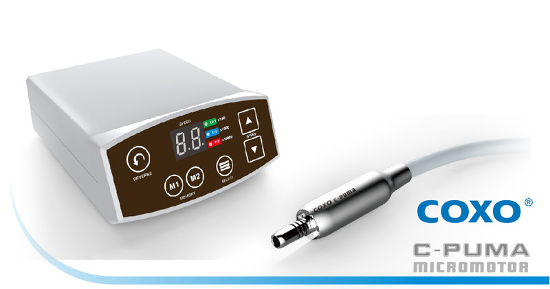 Free Shipping 2016 New Arrival COXO Dental LED Brushless Mini Electric micro motor System C PUMA for 1:5 handpiece