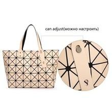 ... Package Sequins Mirror Plain Mosaic Top Handle  2017 Fashion Bao Bao  Bag Women Tote Fold summer issey miyak Baobao Hand Bag Laser Geometric ... cd83eeac4a