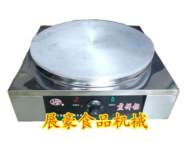Desktop electric Automatic thermostat Stainless steel pancake machine grain frying machine frying pan