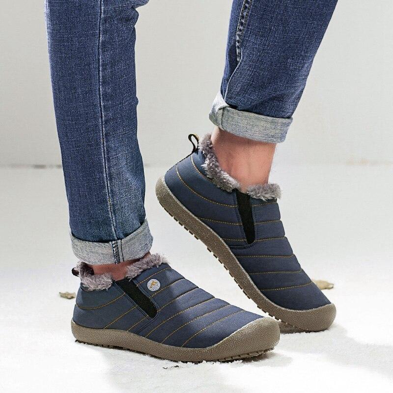 f7e8ec11adf2 Plus Size Unisex Waterproof Fur Lining Slip On Snow Boots women Men Shoes  Winter DA120. QQ20180920153309. 27 ...