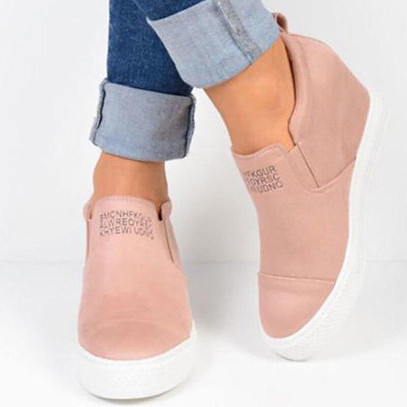 Augmenter dans Baskets pour les Filles Plus La taille 9-10.5 Femmes Casual chaussures Designer Slip-sur Confortable Antidérapant Superstar chaussures