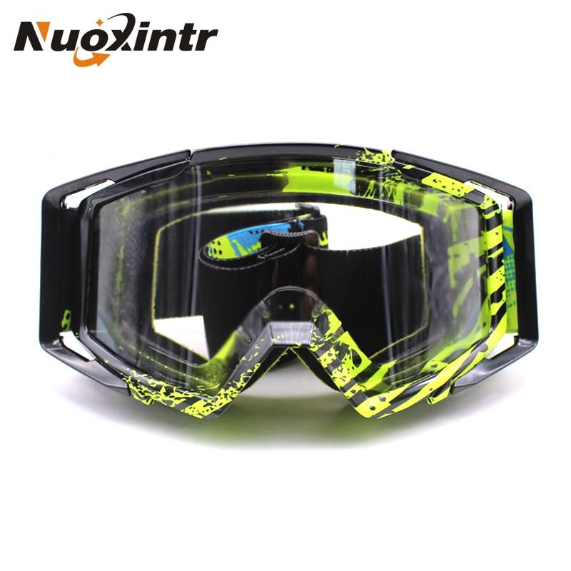 Nuoxintr Motocross Goggles Oculos Gafas Motorcycle Glasses ATV MX Off Road Dirt Bike Ski Sports Climbing Racing Goggles