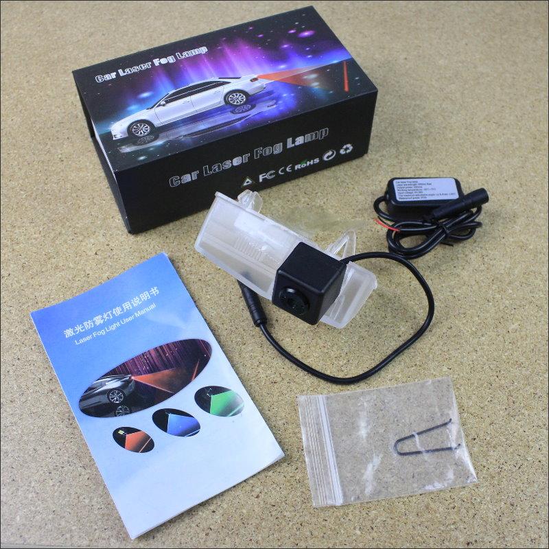 Laser Anti Collision Lamp Fog Light For Toyota RAV4 RAV 4 2013~2015 Outside The Car Warning Alert Light To Shoot The Chandeliers rainy anti collision laser light for