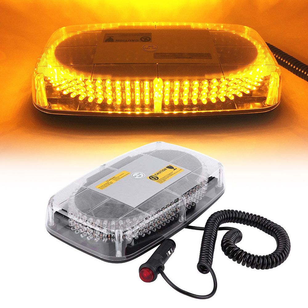 Amber 240 LED Car Roof Top Strobe Warning light Yellow Police Flashing Emergency Light Mini Bar Traffic safety signal lamp
