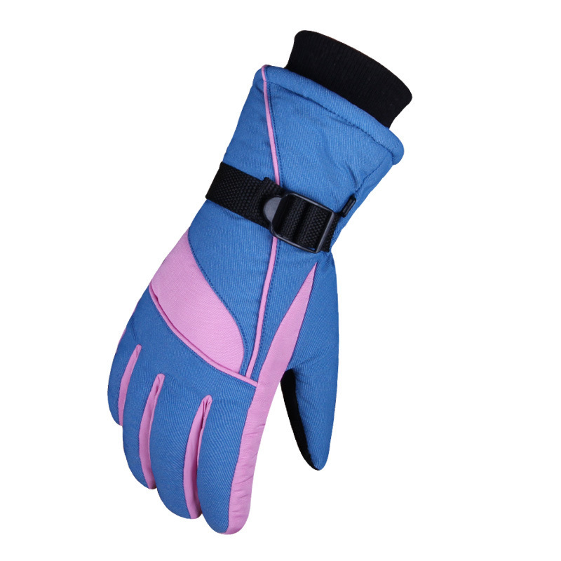 Winter Skiing Glove Thick Warm Windproof Snow Ski Gloves Snowboard Cycling Motorcycle Anti-Cold Outdoor Sport Gloves Youth Women