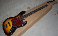 free shipping F 4 strings Sunburst Electric bass guitar with Vintage Active pickups 5 13