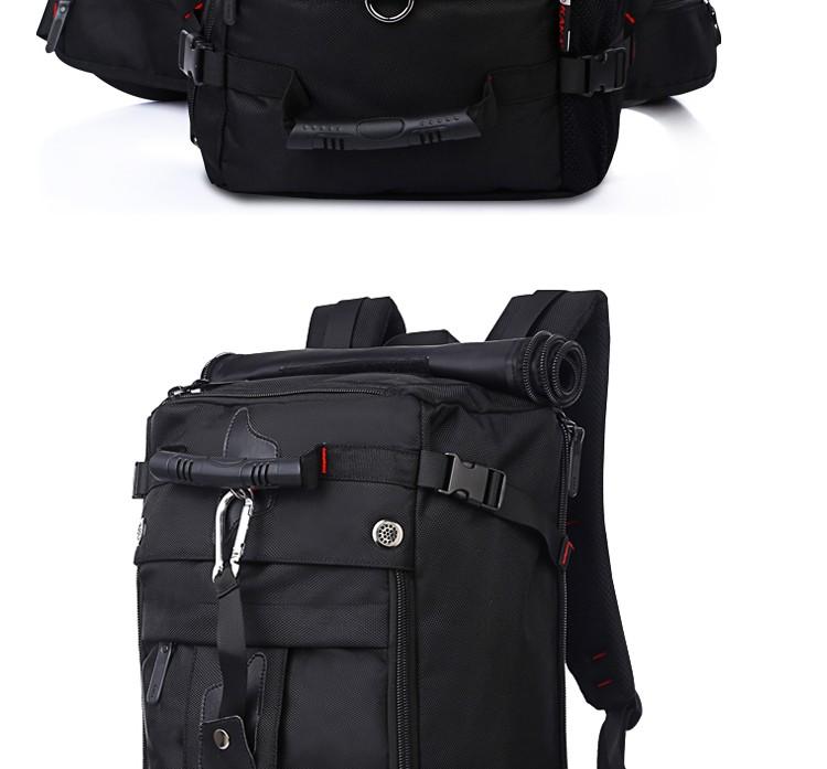 KAKA Men Backpack Travel Bag Large Capacity Versatile Utility Mountaineering Multifunctional Waterproof Backpack Luggage Bag 4
