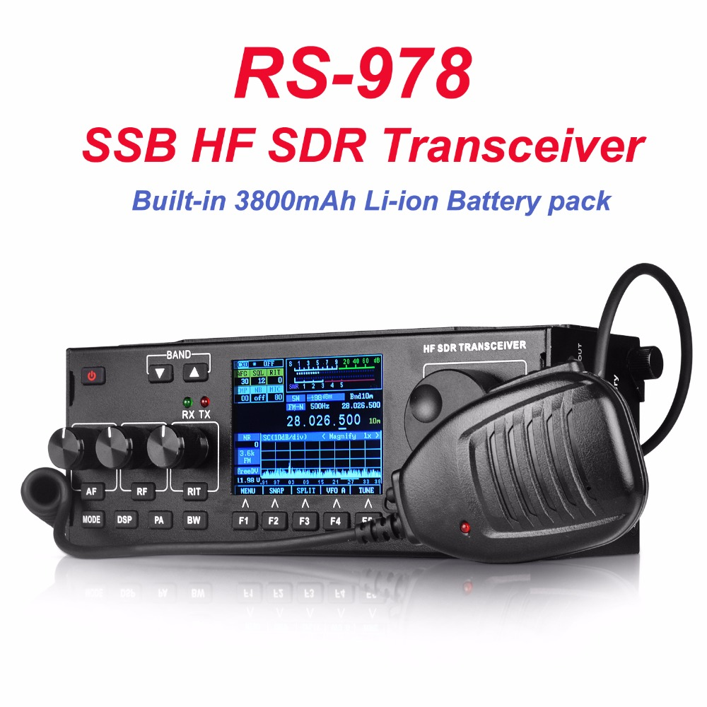 RS 978 SSB hf SDR วิทยุ HF ham Transceiver 1.8 30 เมกะเฮิร์ตซ์ 10 วัตต์ ham sdr วิทยุ hf 3800 มิลลิแอมป์ชั่วโมงแบตเตอรี่ Li   Ion-ใน วิทยุสื่อสาร จาก โทรศัพท์มือถือและการสื่อสารระยะไกล บน AliExpress - 11.11_สิบเอ็ด สิบเอ็ดวันคนโสด 1