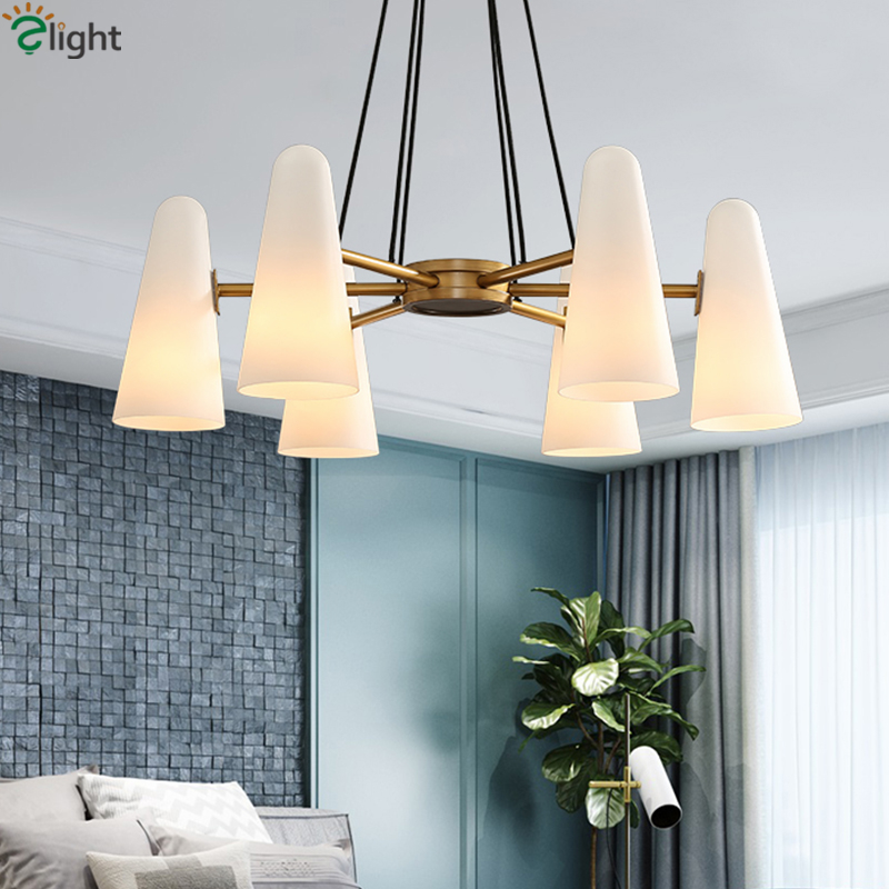 American Retro Glass Lampshades E14 Luminaires Led Chandelier Living Room Lustre Luxury Pendant Chandelier Lamparas Fixtures didriksons1913 шарф tube fleece didriksons1913