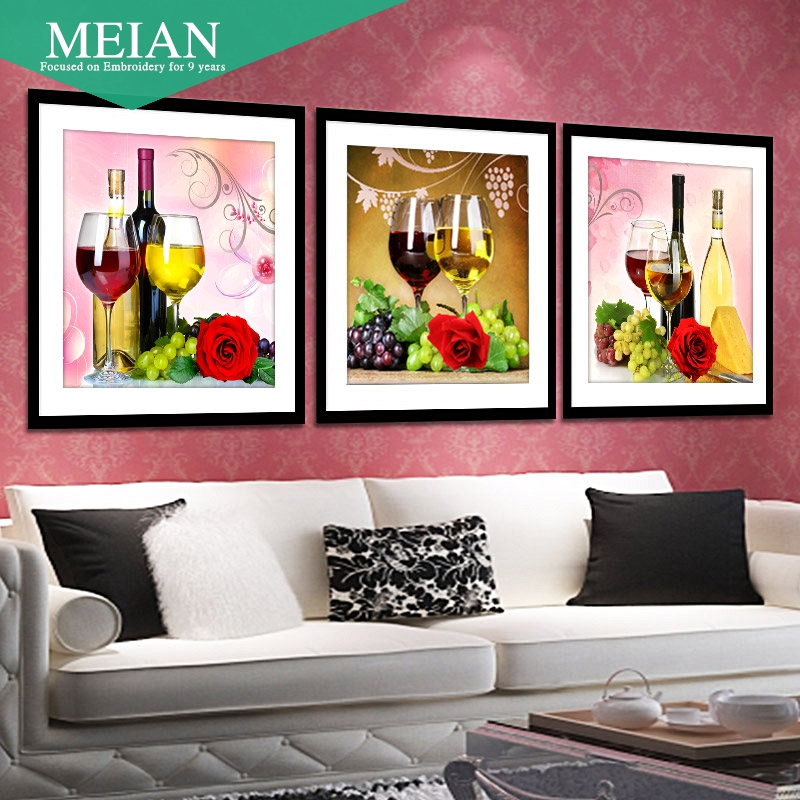 and the New Handmade 5D diamond painting restaurant wine cup stickers Diamond Cross Stitch stone show
