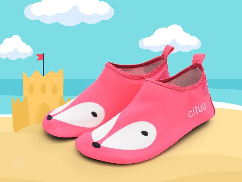 Детская ластах дайвинг носки быстросохнущие внутренние двери кожи обувь Быстросохнущие кроссовки воды пляжа спортивная обувь без каблука ... ...