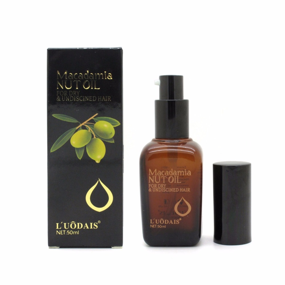 100% Pure Moroccan Argan Oil Macadamia Nut Oil Hair Care Scalp Treatment Make Your Hair Shine Soft Hair Conditioner 50ML