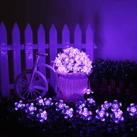 50 Leds Solar String Lights Garden Lawn Christmas Tree Wedding Flowers Blossom Waterproof Outdoor Decoration Lamp