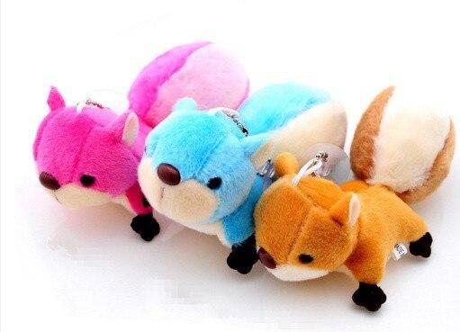 Kawaii cores - 8 CM esquilo bonito otário Keychain Plush Stuffed TOY boneca, Buquê de casamento de pelúcia boneca dom pingente de brinquedo