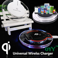Transparent 1A New Crystal Qi Wireless Charger Pad Charging with wireless receiver For Sony Xperia Z3+ Z3 Plus E6553