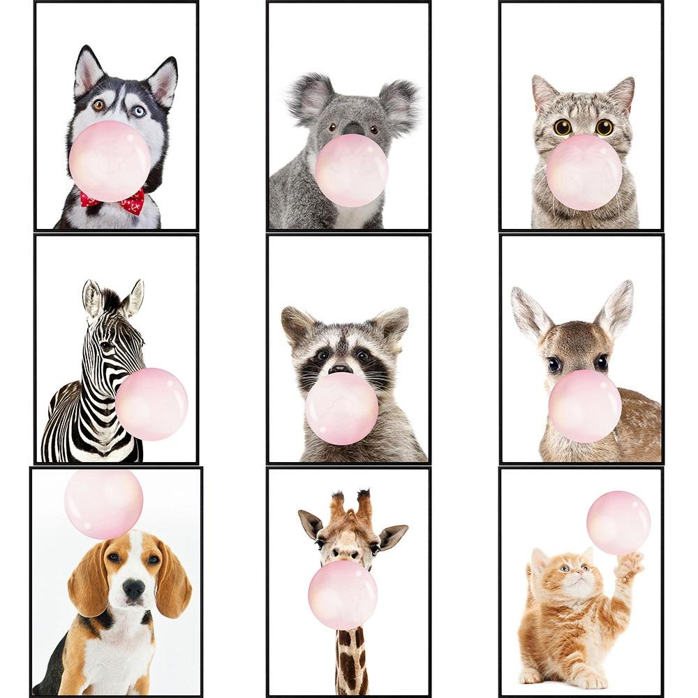 Home Animal Blow Bubbles  5D Diamond Painting Cross Stitch Set Dog Cat Wall Sticker Mosaic Embroidery