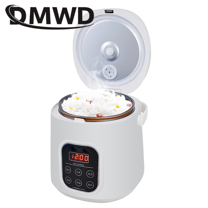 DMWD Electric Mini Rice Cooker Car Use Household Eggs Food Steamer Soup Porridge Cooking Machine Heating Lunch Box 1.6L 12V 24VDMWD Electric Mini Rice Cooker Car Use Household Eggs Food Steamer Soup Porridge Cooking Machine Heating Lunch Box 1.6L 12V 24V