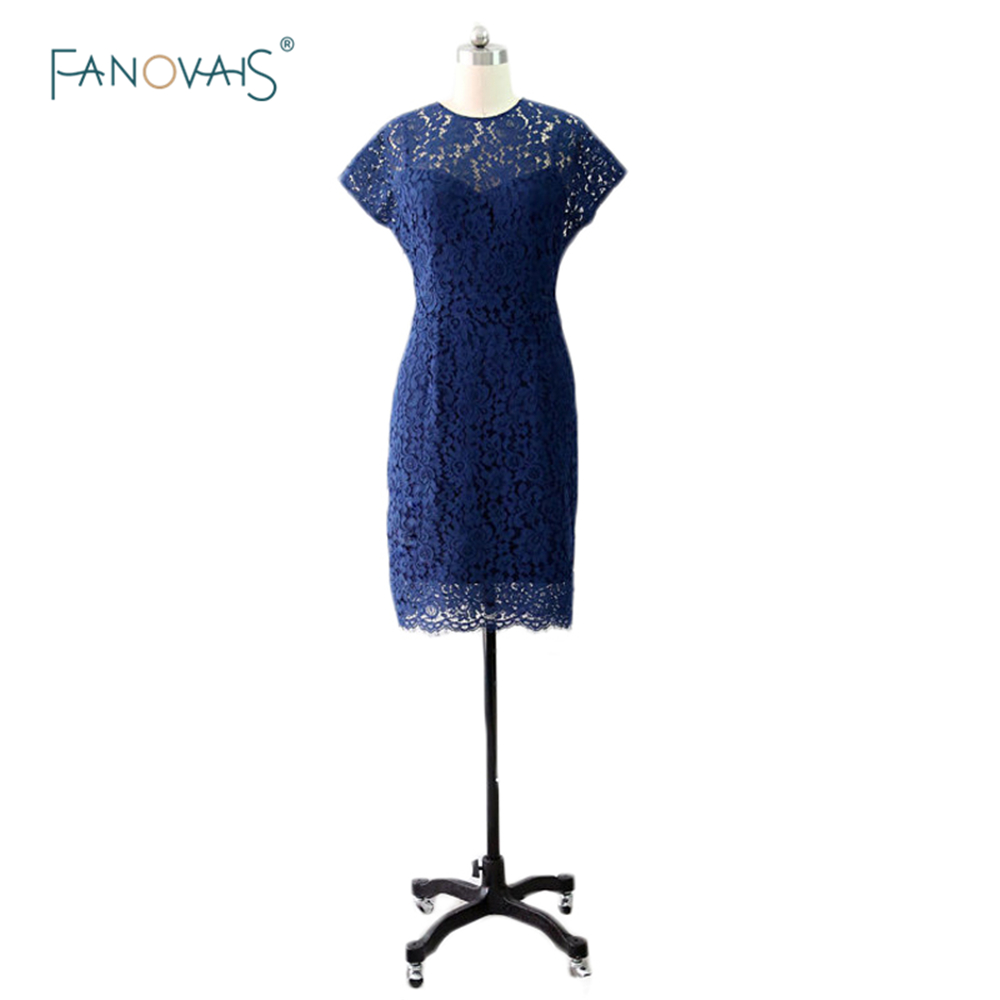 robe demoiselle d 39 honneur 2015 navy blue lace party dress. Black Bedroom Furniture Sets. Home Design Ideas