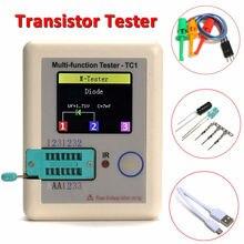 2016 T1 Nuevo TFT Transistor Tester Diodo Triodo Capacitancia ESR Medidor LCR meter NPN PNP MOSFET IR Multifunción tester multímetro