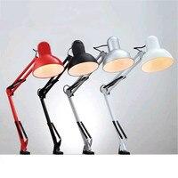 CHENGYILT Flexible Desk Lamp Led Desk Lamp Home Office Led Table Lamp Metal Architect Adjustable Folding Reading Light