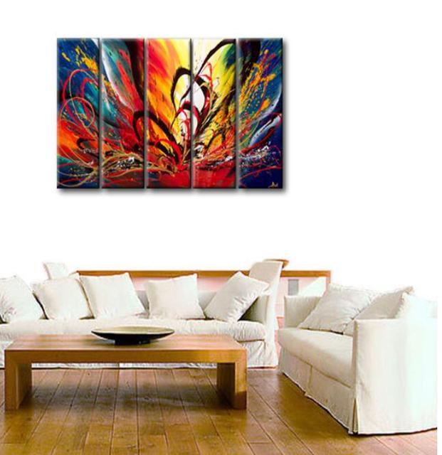 US $50.9 |Colorful immagine della tela di canapa pittura per camera da  letto di modo di colore significato della pittura a olio su tela di arte  per ...