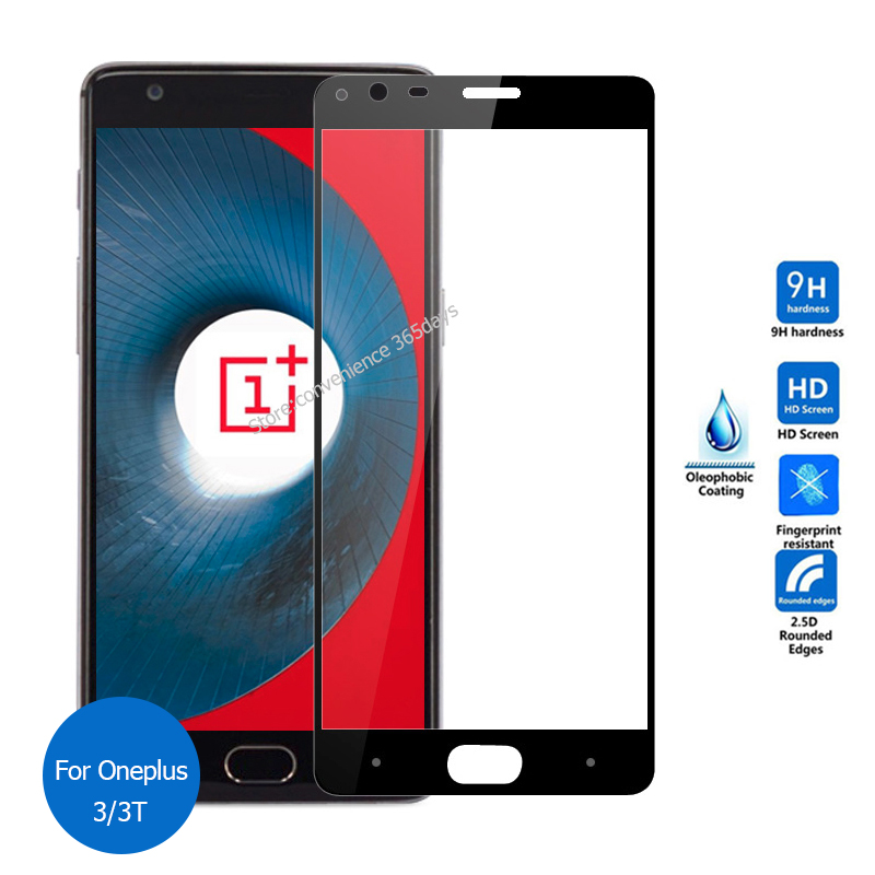 For Oneplus 3T Tempered Glass screen Protector Full Cover 9h All Coverage Safety Glass on One plus 3 T A3003 A3000