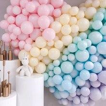 30/50 adet 10 inç lateks balon Macaron renk düğün sevgililer günü dekorasyon balonları bebek doğum günü olay parti malzemeleri globo