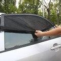 2 PCS Universal Ajustável Máscaras Do Sol Do Carro Proteção UV Janela Escudo Capa de Malha Toldos janela do Carro da Viseira de Sun folha L 113*51 cm