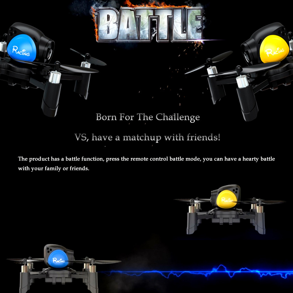 Mini Drone Battle Function 2.4G DIY Battle Drone Headless Mode RC Quadcopter Fun Game Drone Profissional Flying Minion 2019