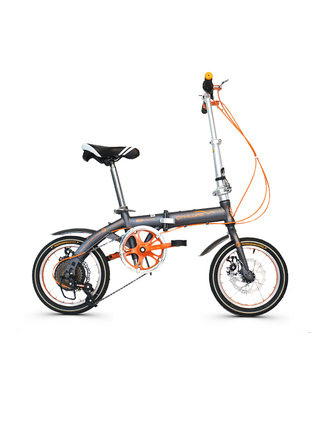 [TB08]Folding Bicycle Male Ultra Light Portable Adult 14 Inch Speed Student Small Portable Female Mini Bicycle