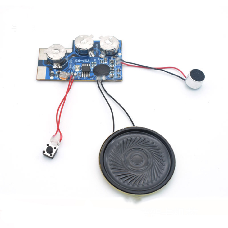 Фото Playback Voice IC Chip Sound Recording Module Voice DIY KIT 20 seconds Record Music Greeting Card with indicator light Recorder