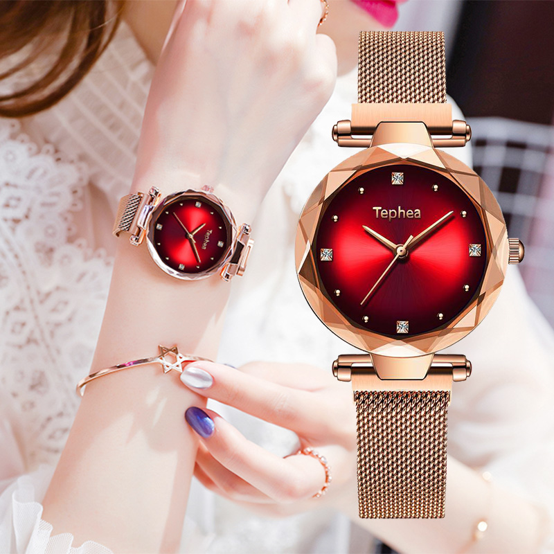 Tephea Brand Luxury Gradient Women Watches Fashion Diamond Ladies Starry Sky Watch Magnet Watch Women Box Bracelet Set For GiftTephea Brand Luxury Gradient Women Watches Fashion Diamond Ladies Starry Sky Watch Magnet Watch Women Box Bracelet Set For Gift