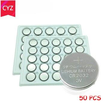 50 sztuk cr2032 baterii 3V komórki monety przycisk Batteria litowo-jonowy DL2032 baterii zegarki zegary zabawki relogio celular batterijen