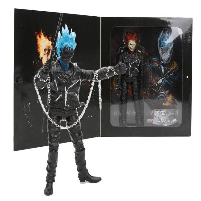 23 cm Marvel Johnny Blaze Ghost Rider PVC Action Figure Collectible Modelo Toy presente das crianças