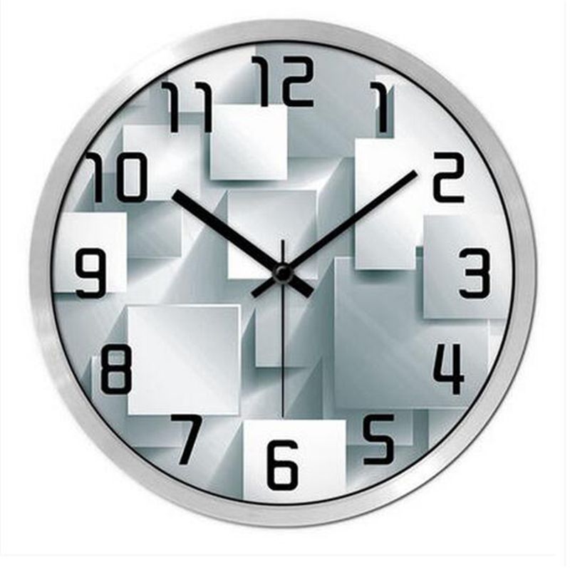 watch wall clock classic beautiful office silent time table klokken de parede metal art round watches ddn171in clocks from home office clock wall f13 clock