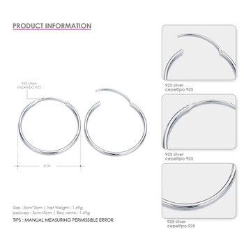CC Pure Silver Hoop Earrings For Women 1